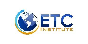 ETC Institute text next to globe. logo